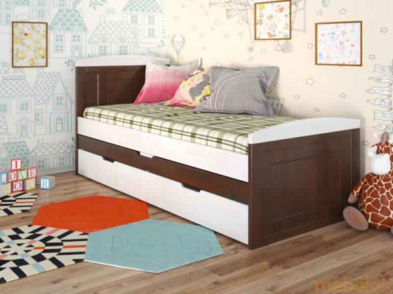 Кровать Компакт сосна 80x200 с другого ракурса