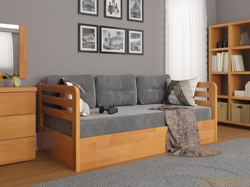 Кровать Немо Люкс сосна 80x190 с подъемным механизмом от фабрики Арбор Древ