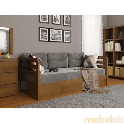 Кровать Немо Люкс сосна 80x190 с подъемным механизмом с другого ракурса