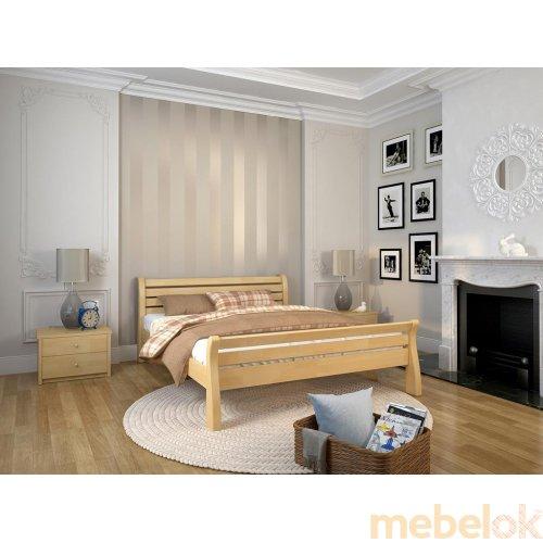 Полуторная кровать Акцент сосна 140х190