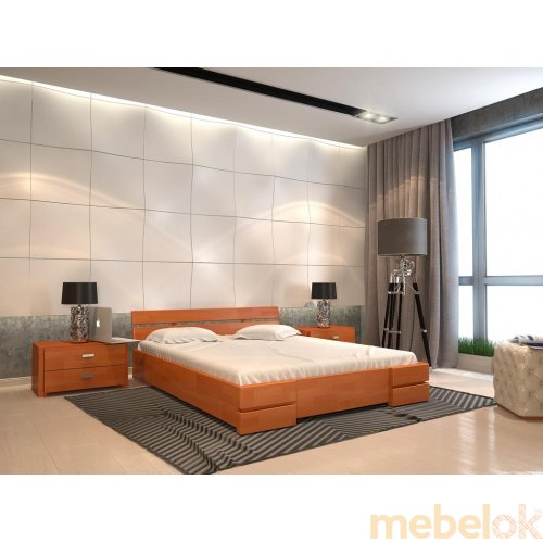 Полуторная кровать Дали сосна 140х200