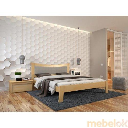 Полуторная кровать Гармония сосна 140х190