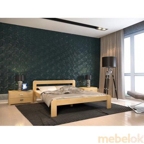 Полуторная кровать Опера сосна 120х200
