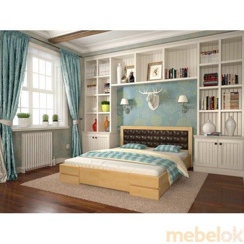 Полуторная кровать Регина сосна 140х190