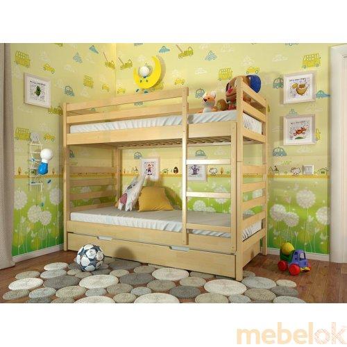 Двухъярусная кровать Рио сосна 90х200