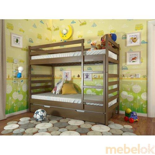 Двухъярусная кровать-трансформер Рио бук 90х200 с тремя спальными местами