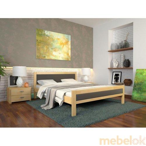 Полуторная кровать Рондо дуб 140х200