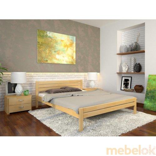 Односпальная кровать Роял сосна 90х200