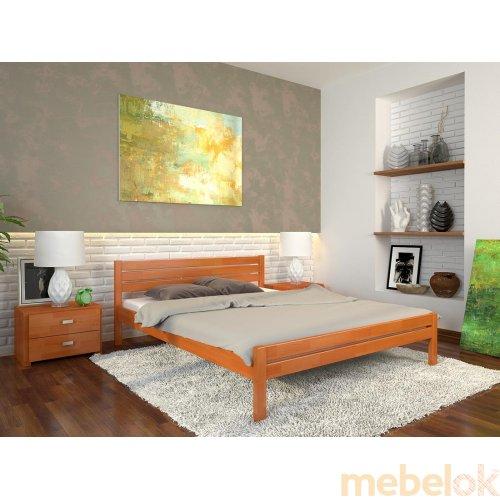 Двуспальная кровать Роял сосна 160х200