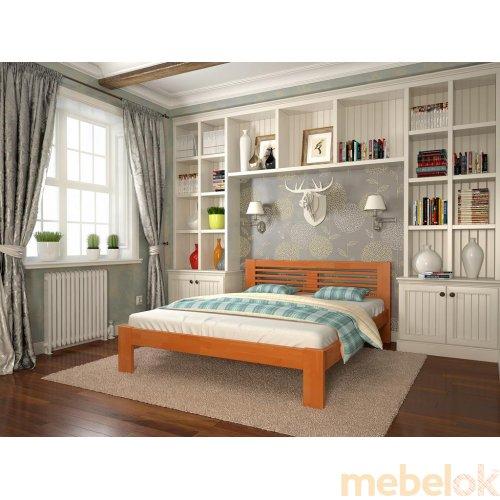 Двуспальная кровать Шопен бук 160х200