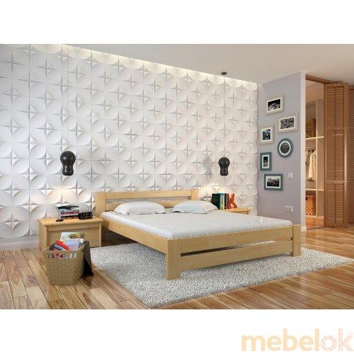 Односпальная кровать Симфония сосна 90х200