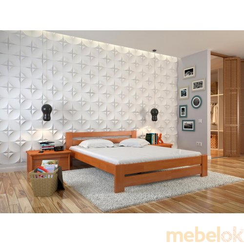 Двуспальная кровать Симфония сосна 180х200