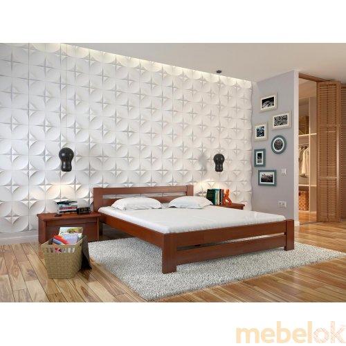 Буковая кровать Симфония 90х190