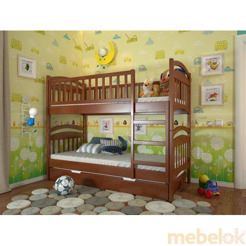 Двухъярусная кровать Смайл сосна 80х190