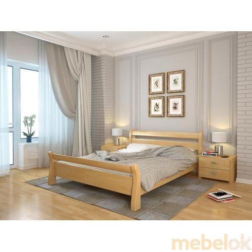Двуспальная кровать Сонатта бук 160х190