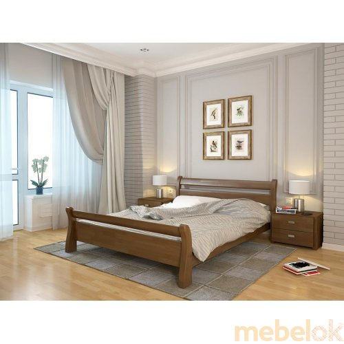 Двуспальная кровать Сонатта бук 180х200
