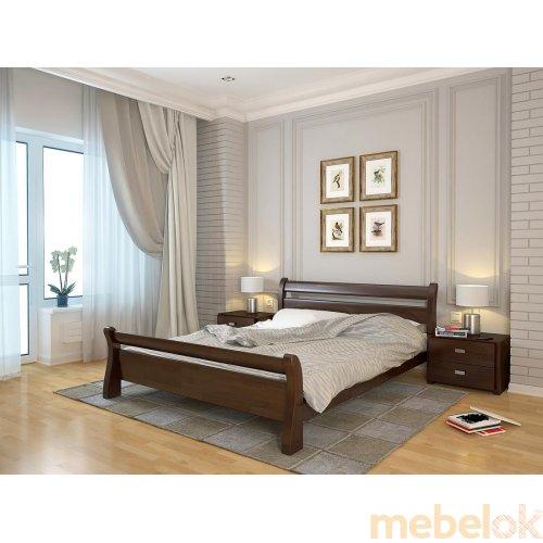 Двуспальная кровать Соната сосна 160х190