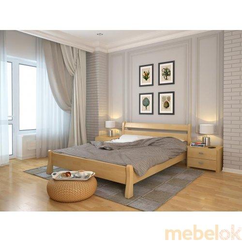 Полуторная кровать Венеция сосна 140х200