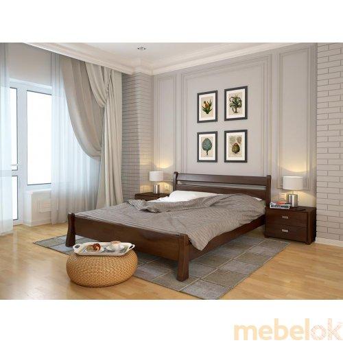 Двуспальная кровать Венеция сосна 160х190