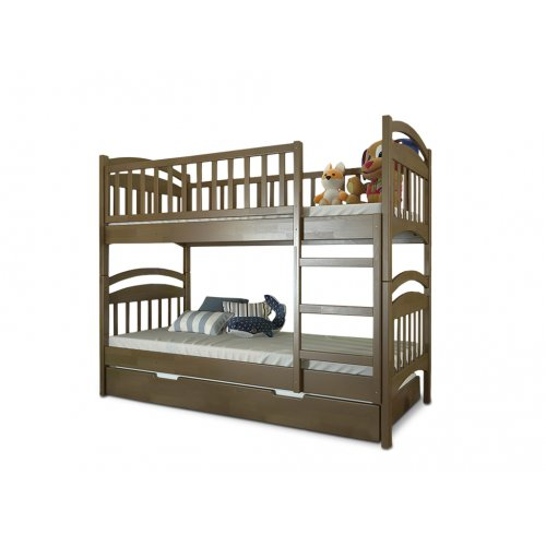 Двухъярусная кровать Смайл дуб 90х200