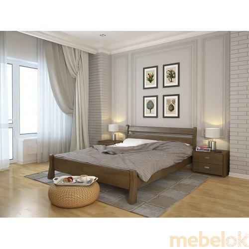 Односпальная кровать Венеция сосна 90х200