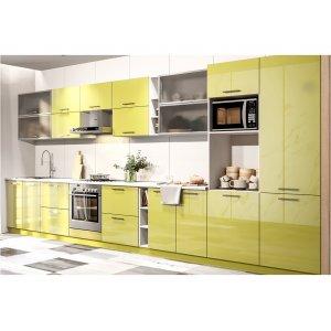 Кухня Бьянка 3,8х2,2 м зеленый глянец