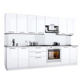 Кухня Бьянка 2,6 м глянец белый