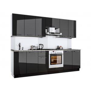 Кухня Бьянка 2,6 глянец черный