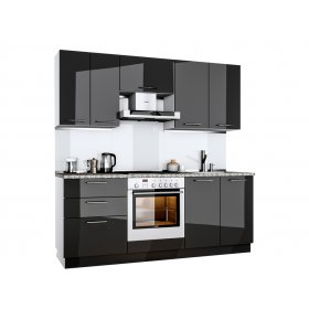 Кухня Бьянка 2,0 м глянец черный