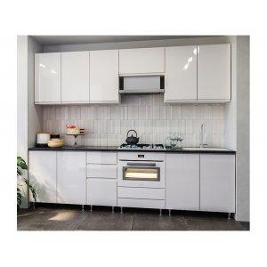 Кухня Миллениум белый глянец 2,6