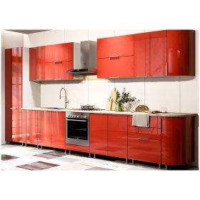 Кухня Орландо глянец красный