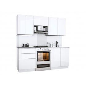 Кухня Орландо 2,0 м глянец белый
