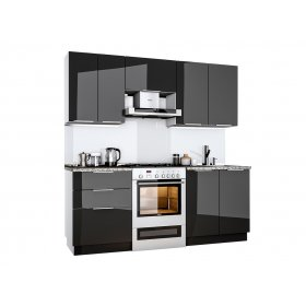 Кухня Орландо 2.0 глянец черный