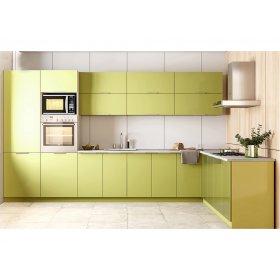 Угловая кухня Орландо глянец зеленый