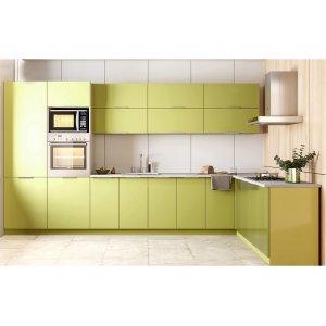 Кухня Орландо глянец зеленый (3,7х2,2 м)