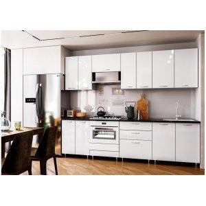 Кухня София белый глянец 2,6 м
