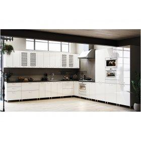 Кухня София глянец белый (3,8х3,8 м)