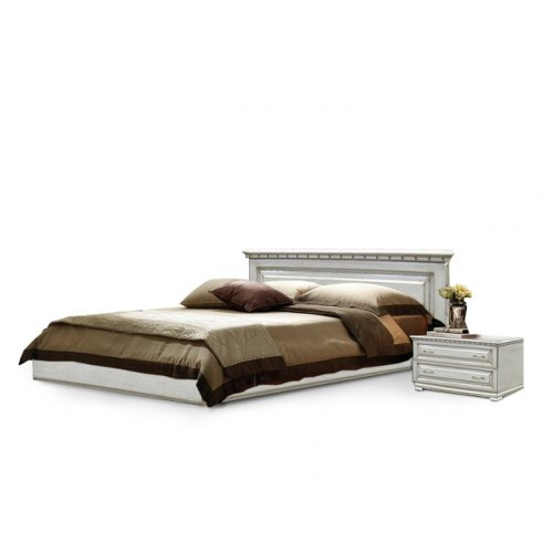 Кровать Лилия белая дуб 160х200