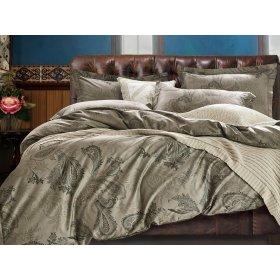 Двуспальное печатное постельное белье Arya Kitan 200х220