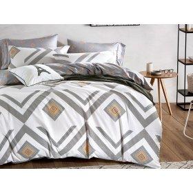Полуторное печатное постельное Arya Zigzag 160х220