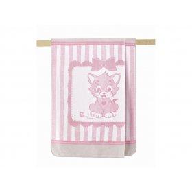 Плед Arya Хлопок Детский 100х120 Kitty розовый