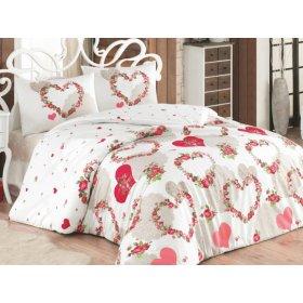 Двуспальный комплект постельного белья  Arya Ранфорс 200х220 Huima