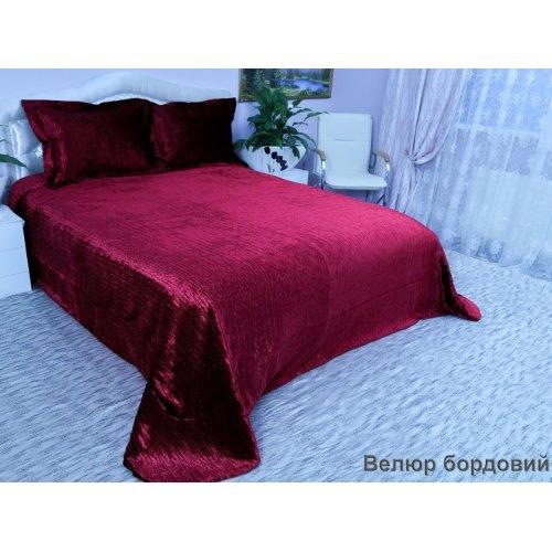 Комплект для спальни Arya Велюр бордовый