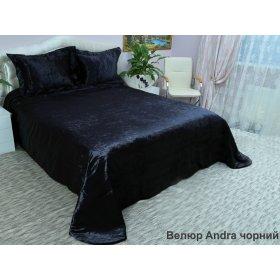 Комплект для спальни Arya 265х265 Andra Велюр черный