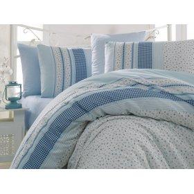 Двуспальное постельное белье Arya Defne голубое 200х220