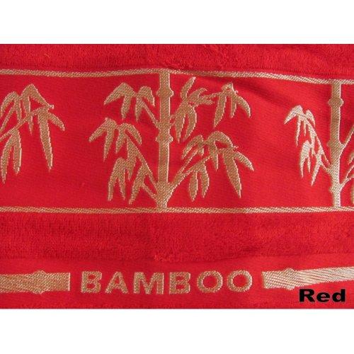 Полотенце Arya Бамбук Bonita красное 90х150