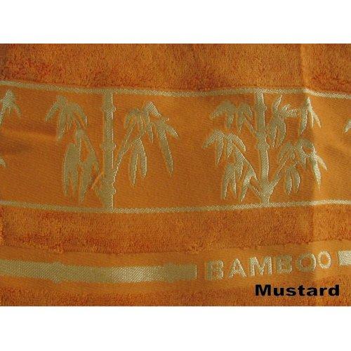 Полотенце Бамбук Arya Bonita 50х90 горчичное