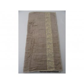 Полотенце Бамбук Arya Aleda 50х90 светло-коричневое