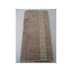 Полотенце Бамбук Arya Aleda 70х140 светло-коричневое