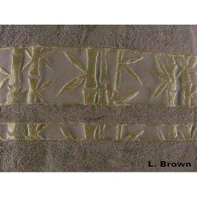Полотенце Arya Бамбук Elanor 50х90 светло-коричневое